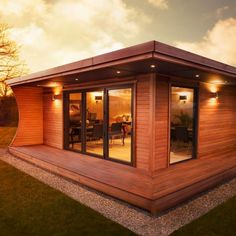 rustic Garden room The Arca is the perfect commercial solution if you need additional space. we understand the needs of your business as well as the leisure sector inside out. Insulated Garden Room, Outdoor Garden Rooms, Contemporary Garden Rooms, Building A Small House, Free Standing Lamps, Garden Pods, Grand Designs Live, Sips Panels, Garden Room Extensions