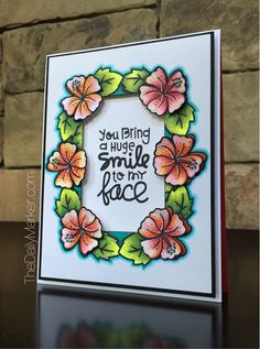 YOU BRING A SMILE TO MY FACE card by Kathy Racoosin for Paper Smooches - Spreading Sunshine, Summer Lovin