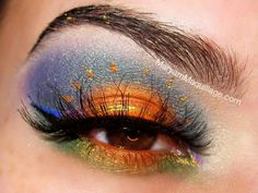 Sunset eyeshadow