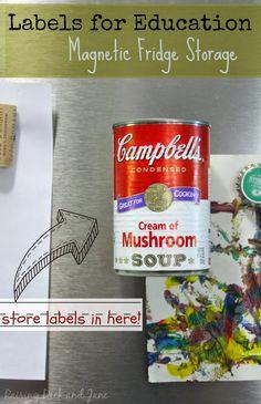 What a great way to store Labels for Education! #Labels4edu #shop #cbias