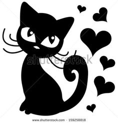 Cat Vectortshirt Graphicscute Cartoon Characterscute Graphics Stock Vector (Royalty Free) 159258818 - cat vector by StudioLondon, via Shutterstock - Kittens Cutest, Cute Cats, Wallpaper Gatos, T Shirt Art, Cute Cartoon Characters, Cat Quilt, Cat Silhouette, Cat Crafts, Cat Drawing