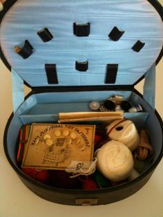 $9.99 ~ Vintage Sewing Travel Kit with Supplies and Carrying Case ~ by TKelley Collection