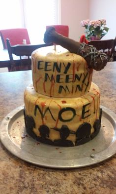 The Walking Dead birthday cake