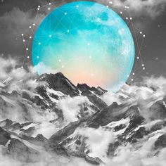It Seemed To Chase the Darkness Away (Guardian Moon) – Art Print | Event Horizn