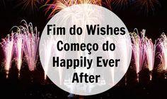 Teremos um novo show de fogos de artifício no Magic Kingdom, chamado Happily Ever After. Esse show veio para substituir o queridinho Wishes.