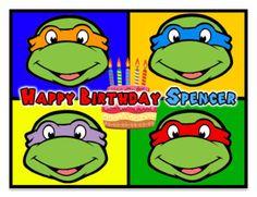 Teenage Mutuan Ninja Turtles Edible Image Birthday Cake Topper Frosting Sheet ALL SIZES on Etsy, $2.05