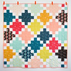 Trellis Quilt by Aneela Hoey Quilter's Cotton from Make It Sew Projects for Cloud9 Fabrics