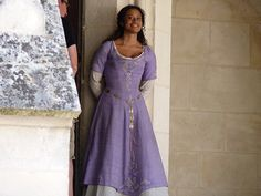 Angel Coulby on set of Merlin