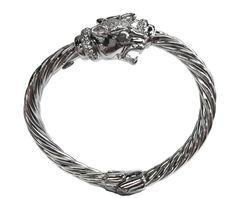 Dual Panther Braided Bracelet