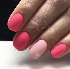 ✔ elegant nail art designs for prom 2019 54 Nail Art Designs, Ombre Nail Designs, Short Nail Designs, Nails Design, Pink Gel, Hot Pink Nails, Nail Pink, Matte Pink, Cute Acrylic Nails