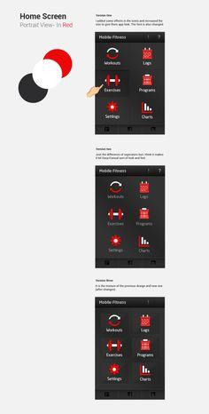 Fitness App by Banzu , via Behance