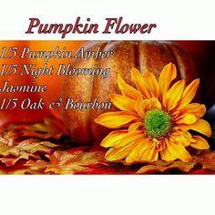 Pink Zebra Recipe: Pumpkin Flowet.  Featuring Pumpkin Amber, Night Blooming Jasmine and Oak & Bourbon