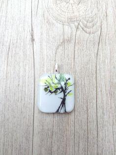De boom van Eli gesmolten glas hanger ketting door MelisaCreation