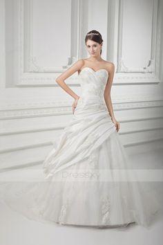 Formal Sweetheart Ball Gown Beading Taffeta Wedding Dresses #Christmas #Sale