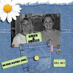 Scrapbook Idea - great use of old denim jeans.