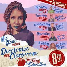 """Nic on Instagram: """"LET'S GET ANTI-RACIST IN THE SPACE WHERE IT MATTERS MOST (imho)... ⠀ The Classroom. ⠀ This week, here on IG Live at 8pm Eastern each night,…"""" Anti Racism, Brittany, Classroom, Let It Be, Space, Night, Live, Reading, Instagram"""