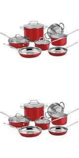 Cuisinart CSS-11MR 11-Piece Classic Cookware Set, Red