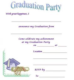 make graduation invitations free