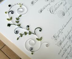 Quaker Marriage Certificate with Quilled Floral Scrolls is included in 30 Examples of Quilled Wedding Invitations, Marriage Certificates, and Ketubahs Paper Quilling Tutorial, Paper Quilling Designs, Quilling Paper Craft, Quilling Flowers, Quilling Patterns, Quilling Jewelry, Paper Crafts Wedding, Craft Wedding, Wedding Cards