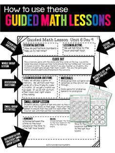 Guided Math - Tunstall's Teaching Tidbits, math lesson plans, math lessons with materials, math printables,