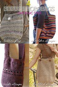 Needlecrafts - Crochet Marketbag, 4 Ways               Top Left Image |  free pattern here   Top Right Image |  original free pattern he...