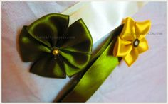 Ribbon flowers,bows,embellishments for frocks. DIY Ribbon bows tutorial #9 | The Crafty Angels
