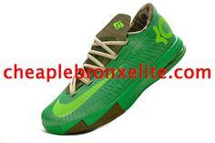 Kevin Durant 6 Bamboo Jade Green Lime Green Khaki 599424 065