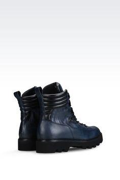 CALFSKIN COMBAT BOOT: Combat boots Men by Armani - 3
