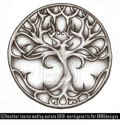 another possible tattoo idea!  I love the tree.