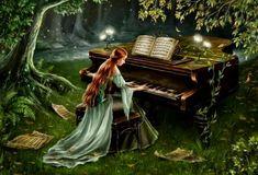 Старый рояль. Картинки для декупажа - Handmade-Paradise