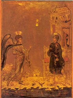 Icon of the Annunciation, St Catherine's Monastery, Sinai, 12th century.