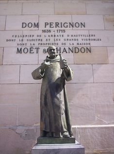 Monk Dom Perignon in Reims, France. I adore him & the Moet & Chandon champagnery. Champagne Region France, Moët Chandon, Dom Perignon, Vintage Champagne, Voyage Europe, Champagne Bottles, Sparkling Wine, Wine Country, Tours