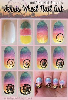 Ferris wheel nail art