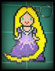 Llavero Rapunzel Hama beads