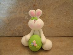 *POLYMER CLAY ~ Easter Bunny and Egg.