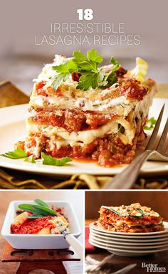A good lasagna makes for a hearty meal any day of the week. More of our favorite lasagna recipes: http://www.bhg.com/recipes/ethnic-food/italian/lasagna-recipes/?socsrc=bhgpin112213lasagnarecipes