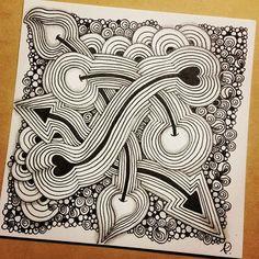 Zentangle 022816. #zendoodle #zentangle #doodle #doodleart #drawing #draw #painting #art #artwork #sketch #sketchbook #zenart #zentangleart #zentangleinspiration #onezentangleaday #learnzentangle