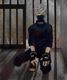 カカシ先生で妄想´ω`………手錠塗り忘れてた・・・・orz