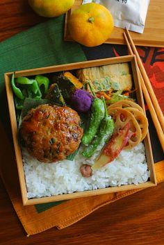 Teriyaki lunch of meatball .
