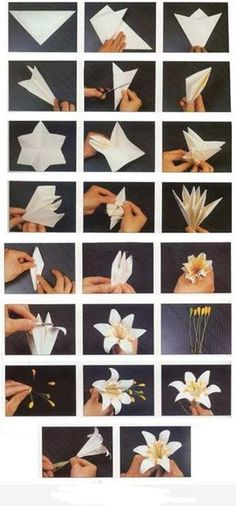 We've always wanted to build origami shapes, but it looked too hard to learn. Turns out we were wrong, we found these awesome origami shapes. Paper Flowers Diy, Handmade Flowers, Flower Crafts, Diy Paper, Fabric Flowers, Paper Crafts, Flower Diy, Paper Flowers How To Make, Craft Flowers