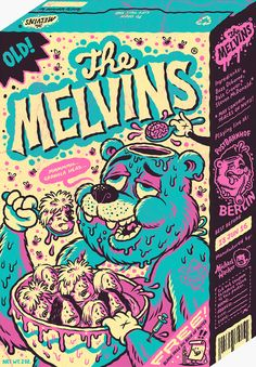 New gig poster for The Melvins — Michael Hacker Illustration Omg Posters, Band Posters, Graphic Design Illustration, Graphic Art, Illustration Art, Doodle Art, Desenho New School, Punk Poster, Psychedelic Art