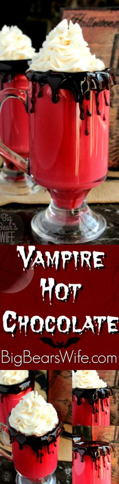 """Some are born into sweet delight, some are born to endless nights.""- William Blake. This poem line isn't directly related to vampires but it does seem to fit doesn't it. It does sound like it's perfect for this Vampire Hot Chocolate too!"