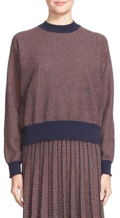 Tanya Taylor 'Palm' Metallic Knit Sweater