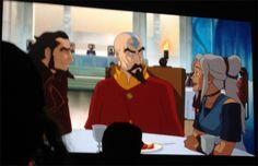 The Legendo of Korra: Book 2 - Spirits - San Diego Comic Con 2013. Bumi, Tenzin and Kya