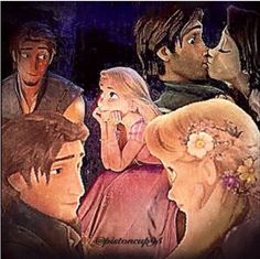 Rupunzel  and Flynn ... wish I could draw that well...