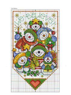 De Fio a Pavio, ponto cruz, patchwork, feltro e muito mais: Outubro 2010 ~~ CHRISTMAS BANNERS -- PAGE 1 OF 2