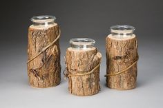 Rustic Candle Holders