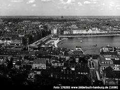 BlickaufJungfernstiegundBinnenalster, Jungfernstieg, 20095 Hamburg - Hamburg-Altstadt (1938)