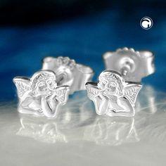 Stecker, kleiner Engel, Silber 925  sehr kleine Stecker
