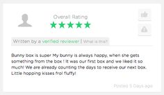 Great to hear about super happy #bunnies!  Make your #bunny super happy with a #BunnyBox